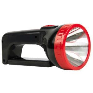 Аккумуляторный фонарь-прожектор 2 в 1 1W+18 SMD, черный