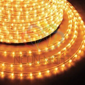 121-121-4 Дюралайт LED, постоянное свечение (2W) – желтый Эконом 24 LED/м , бухта 100м