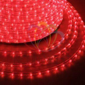121-122-4 Дюралайт LED, постоянное свечение (2W) – красный Эконом 24 LED/м, бухта 100м