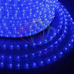 121-123 Дюралайт LED, постоянное свечение (2W) – синий, 36 LED/м, бухта 100м