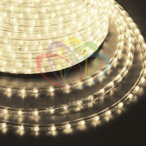 121-126-3 Дюралайт LED, постоянное свечение (2W) – ТЕПЛЫЙ БЕЛЫЙ, 24 LED/м Ø10мм, бухта 100м