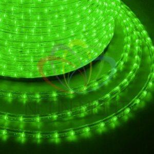 121-254 Дюралайт LED, эффект мерцания (2W) – зеленый, 36 LED/м, бухта 100м