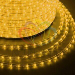 121-121 Дюралайт LED, постоянное свечение (2W) – желтый, 36 LED/м, бухта 100м