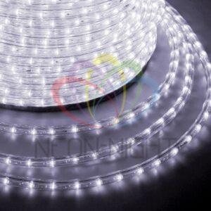121-325-4 Дюралайт LED, свечение с динамикой (3W) – белый Эконом 24 LED/м , бухта 100м