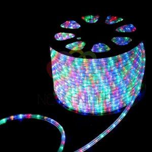 121-329 Дюралайт LED, свечение с динамикой (3W) – мульти (RYGB), 36 LED/м, бухта 100м
