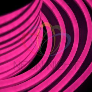 131-027 Гибкий Неон LED – розовый, оболочка розовая, бухта 50м