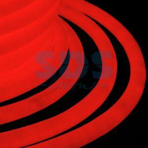 131-032 Гибкий Неон LED 360 (круглый) – красный, бухта 50м
