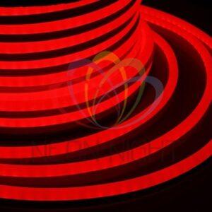 131-022 Гибкий Неон LED – красный, оболочка красная, бухта 50м