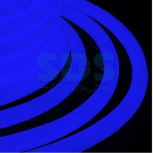 131-033 Гибкий Неон LED 360 (круглый) – синий, бухта 50м
