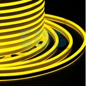 131-061 Гибкий Неон LED SMD, компактный 7х12мм, двухсторонний, жёлтый, 120 LED/м, бухта 100м