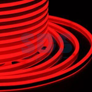 131-062 Гибкий Неон LED SMD, компактный 7х12мм, двухсторонний, красный, 120 LED/м, бухта 100м