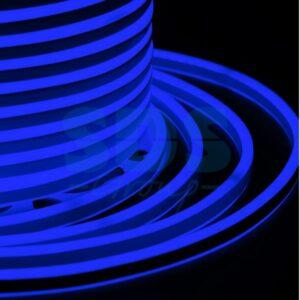 131-063 Гибкий Неон LED SMD, компактный 7х12мм, двухсторонний, синий, 120 LED/м, бухта 100м