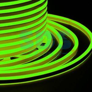 131-064 Гибкий Неон LED SMD, компактный 7х12мм, двухсторонний, зелёный, 120 LED/м, бухта 100м