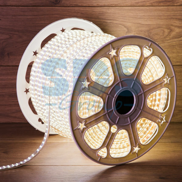 142-201 LED Лента 220В, 6.5×17мм, IP67, SMD 2835, 180 LED/м, Белый, 100м