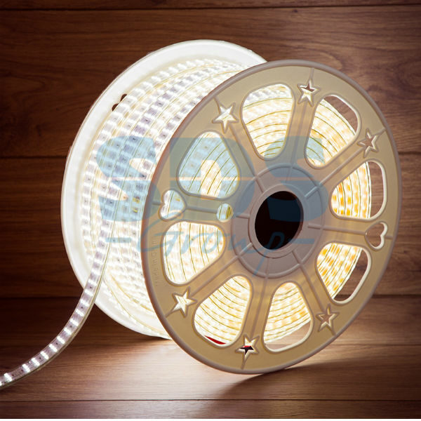 142-203 LED Лента 220В, 7.5×20мм, IP67, SMD 2835, 276 LED/м, Белый, 50м