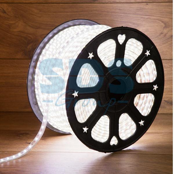 142-701 LED Лента 220В, 6.5×13мм, IP67, SMD 5730, 60 LED/м, Белый, 100м