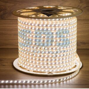 142-703 LED Лента 220В, 6.5×17мм, IP67, SMD 5730, 120 LED/м, Белый, 100м