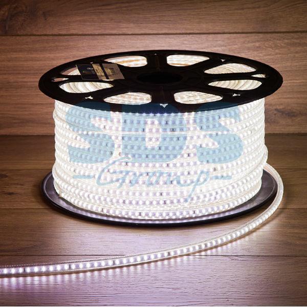 142-801 LED Лента 220В, 6×10.6мм, IP67, SMD 3014, 120 LED/м, Белый, 100м