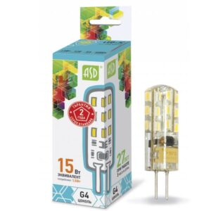 Лампа светодиодная LED-JC-standard 1.5Вт 12В G4 135Лм
