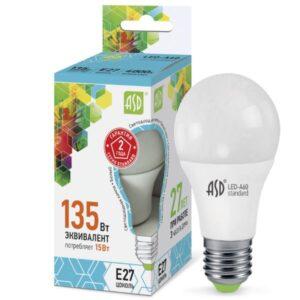 Лампа светодиодная LED-A60-standard 5Вт 220В Е27 450Лм
