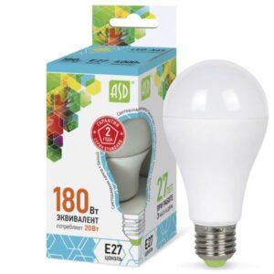 Лампа светодиодная LED-A60-standard 20Вт 220В Е27 1800Лм