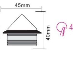 Светодиодный встраиваемый светильник 1ВТ NADIA HL661L