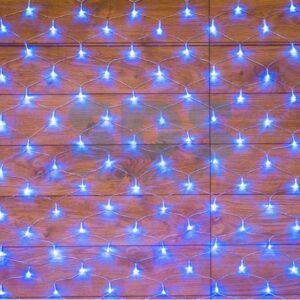 """215-133 Гирлянда """"сеть"""" 1, 8х1, 5м, прозрачный ПВХ, 180 LED, цвет: Синий"""