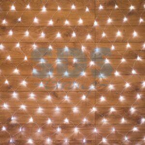 "215-125 Гирлянда ""Сеть"" 1, 5х1, 5м, прозрачный ПВХ, 150 LED Белые"