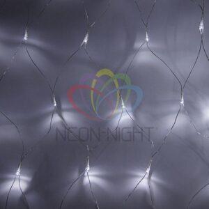 "215-135 Гирлянда ""Сеть"" 1, 8х1, 5м, прозрачный ПВХ, 180 LED Белые"