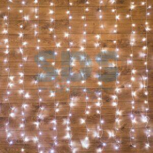 """235-035 Гирлянда """"Светодиодный Дождь"""" 1, 5х1, 5м, свечение с динамикой, прозрачный провод, 230 В, диоды БЕЛЫЕ"""