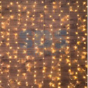 """235-036 Гирлянда """"Светодиодный Дождь"""" 1, 5х1, 5м, свечение с динамикой, прозрачный провод, 230 В, диоды ТЕПЛО-БЕЛЫЕ"""