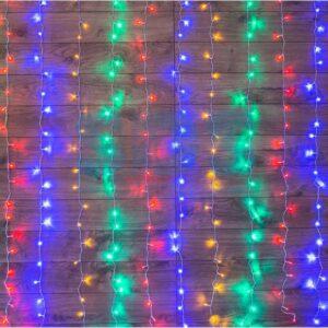 """235-039 Гирлянда """"Светодиодный Дождь"""" 1, 5х1, 5м, свечение с динамикой, прозрачный провод, 230 В, диоды МУЛЬТИКОЛОР"""