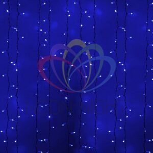"""235-113 Гирлянда """"Светодиодный Дождь"""" 2х1, 5м, постоянное свечение, белый провод, 230 В, диоды СИНИЕ, 360 LED"""