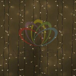 """235-136 Гирлянда """"Светодиодный Дождь"""" 2х3м, постоянное свечение, белый провод, 230 В, диоды ТЁПЛО БЕЛЫЕ, 760 LED"""