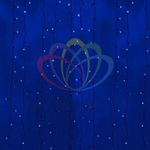 """235-143 Гирлянда """"Светодиодный Дождь"""" 2х3м, постоянное свечение, черный провод, 230 В, диоды СИНИЕ, 760 LED"""