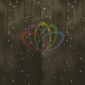"""235-146 Гирлянда """"Светодиодный Дождь"""" 2х3м, постоянное свечение, черный провод, 230 В, диоды ТЁПЛО БЕЛЫЕ, 760 LED"""