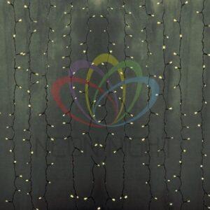 """235-196 Гирлянда """"Светодиодный Дождь"""" 2х9м, постоянное свечение, прозрачный провод, 230 В, диоды ТЕПЛО-БЕЛЫЕ, 2200 LED"""