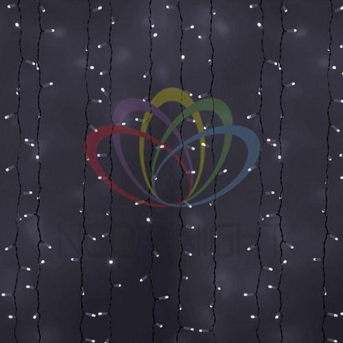 """235-211 Гирлянда """"Светодиодный Дождь"""" 2х3м, эффект мерцания, белый провод, 230 В, диоды БЕЛЫЕ, 760 LED"""
