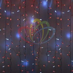 """235-214 Гирлянда """"Светодиодный Дождь"""" 2х3м, эффект мерцания, белый провод, 230 В, диоды КРАСНЫЕ, 760 LED"""