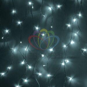 """235-221 Гирлянда """"Светодиодный Дождь"""" 2х1, 5м, эффект мерцания, белый провод, 230 В, диоды БЕЛЫЕ, 360 LED"""