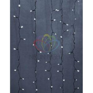 """235-495 Гирлянда """"Светодиодный Дождь"""" 2х9м, эффект водопада, прозрачный провод, 24В, диоды БЕЛЫЕ, 480 LED"""