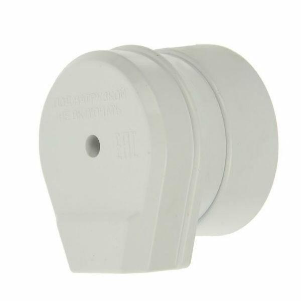 Разъем Smartbuy, для плиты 32А 250В 2P+PE (ОУ) пластиковый белый