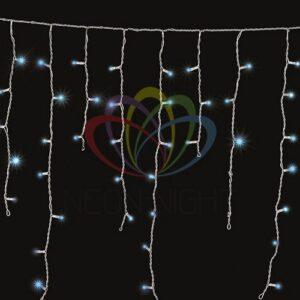 255-013 Гирлянда Айсикл (бахрома) светодиодный, 1, 8 х 0, 5 м, прозрачный провод, 230 В, диоды синие
