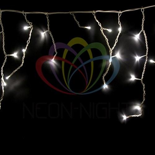 255-026 Гирлянда Айсикл (бахрома) светодиодный, 1, 8 х 0, 5 м, белый провод, 230 В, диоды тепло-белые, 48 LED
