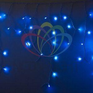 255-033 Гирлянда Айсикл (бахрома) светодиодный, 2, 4 х 0, 6 м, белый провод, 230 В, диоды синие, 88 LED