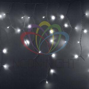 255-034 Гирлянда Айсикл (бахрома) светодиодный, 2, 4 х 0, 6 м, белый провод, 230 В, диоды белые, 88 LED