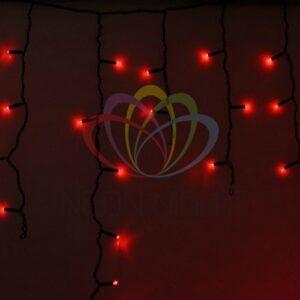 255-132 Гирлянда Айсикл (бахрома) светодиодный, 4, 8 х 0, 6 м, черный провод, 230 В, диоды красные, 176 LED