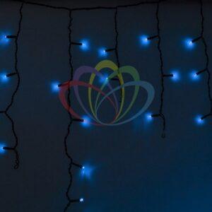 255-133 Гирлянда Айсикл (бахрома) светодиодный, 4, 8 х 0, 6 м, черный провод, 230 В, диоды синие, 176 LED