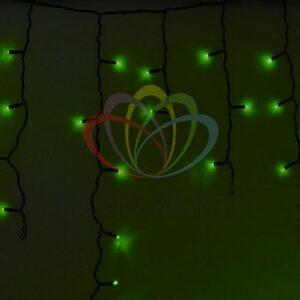 255-134 Гирлянда Айсикл (бахрома) светодиодный, 4, 8 х 0, 6 м, черный провод, 230 В, диоды зеленые, 176 LED