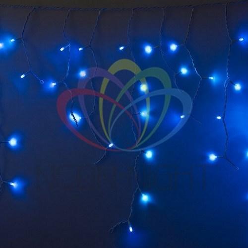 255-136 Гирлянда Айсикл (бахрома) светодиодный, 4, 8 х 0, 6 м, белый провод, 230 В, диоды синие, 176 LED